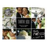 El collage del boda le agradece postal