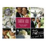 El collage del boda le agradece postal - Borgoña