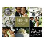 El collage del boda le agradece postal - sabio