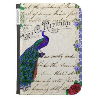 El collage del pavo real del vintage enciende la c