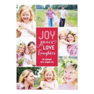 El collage desea la tarjeta de la foto del día de comunicados personales