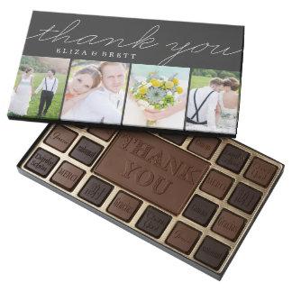 El collage dulce le agradece personalizó la caja caja de bombones variados con 45 piezas