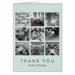 El collage fresco de la rejilla de la menta 9 tarjeta de felicitación