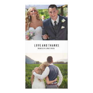 El collage mínimo el | que se casa le agradece tarjeta fotográfica personalizada