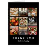 El collage negro de la rejilla 9 memorias de las tarjeta de felicitación
