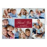El collage precioso le agradece las tarjetas