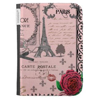 El collage rosado de París del vintage enciende la