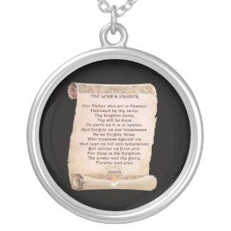 El collar de la plata esterlina de Prayer del seño