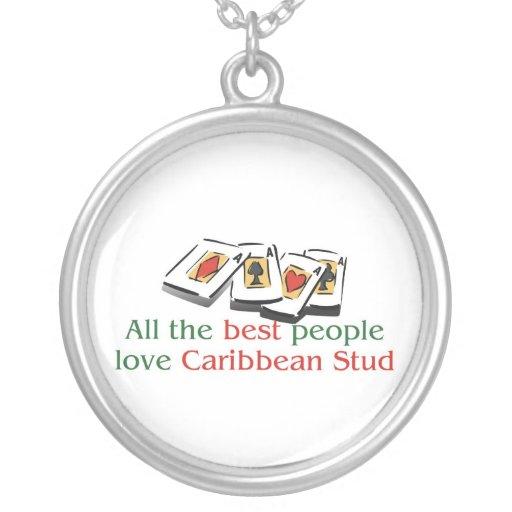 El collar de perno prisionero del amante del Carib