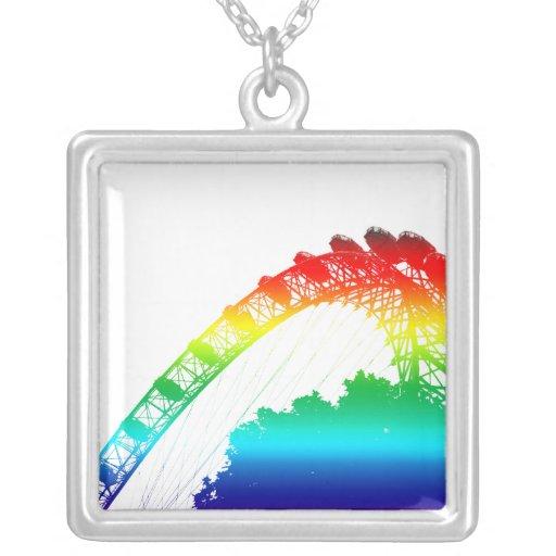 El collar del arco iris del ojo de Londres