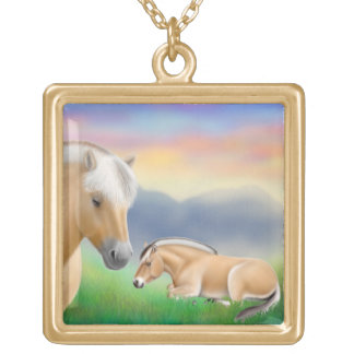 El collar noruego del caballo del fiordo