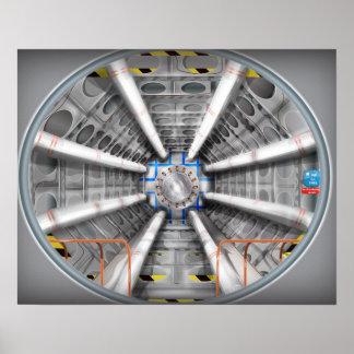 El Collider grande del Hadron Póster