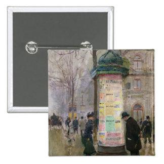 El Colonne Morris, c.1885 Pin Cuadrada 5 Cm