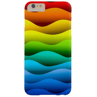 El color agita brillantemente el iPhone 6/6s más Funda Barely There iPhone 6 Plus