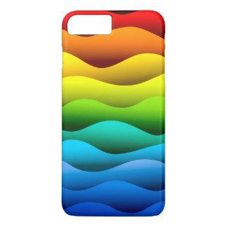El color agita brillantemente el iPhone 7 Barely Funda iPhone 7 Plus