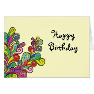 El color agita feliz cumpleaños tarjeta de felicitación