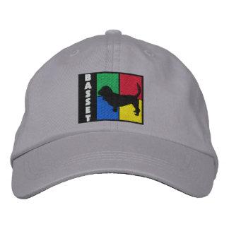 El color ajusta Basset Hound Gorra De Béisbol