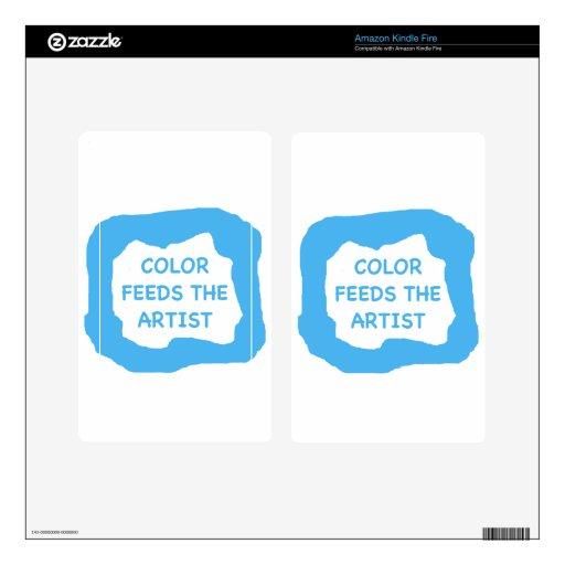 El color alimenta al artista .png kindle fire pegatina skin