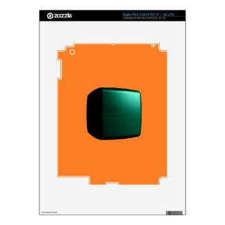 El color anaranjado equipa solamente tarjetas de iPad 3 pegatina skin