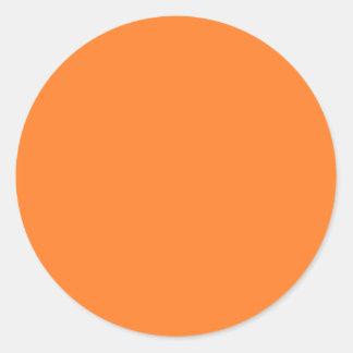 El color anaranjado equipa solamente tarjetas de pegatina redonda
