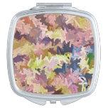 El color apila el espejo compacto cuadrado del men