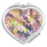 El color apila el espejo de las formas del corazón