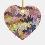 El color apila el ornamento del corazón
