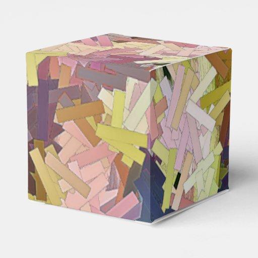 El color apila las cajas del favor cajas para detalles de boda