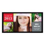El color bloquea la tarjeta de la foto de la invit tarjetas fotograficas personalizadas