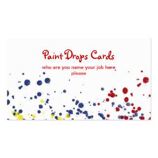 el color cae la tarjeta de visita