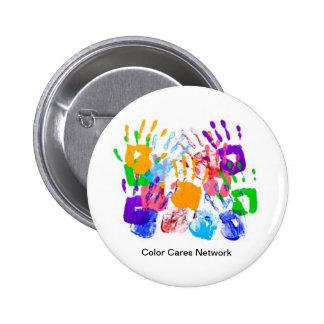El color cuida el botón de la red pin redondo de 2 pulgadas