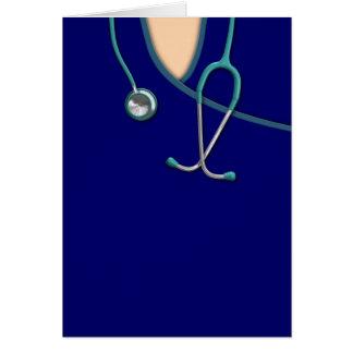 El color de encargo médico friega tarjeta de felicitación