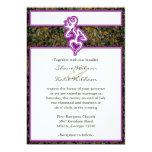 El color de encargo púrpura del esquema de Camo de Invitación 12,7 X 17,8 Cm