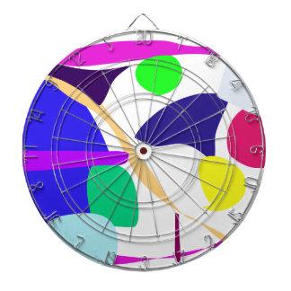 El color de fondo de encargo libera el círculo tablero de dardos
