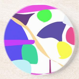 El color de fondo de encargo libera el círculo posavasos para bebidas