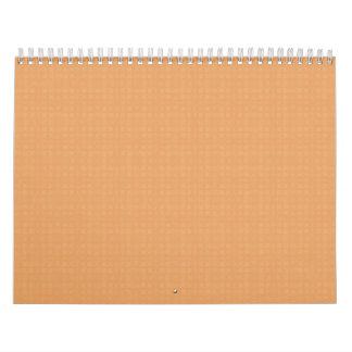 El color de fondo de los cuadrados del melocotón d calendarios