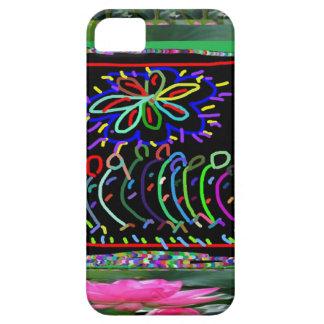 El color de la chispa de las FLORES EMBROMA el iPhone 5 Carcasa