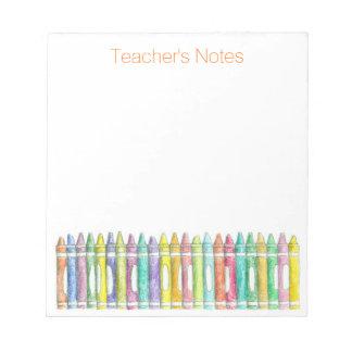 El color de la escuela dibuja con creyón las notas bloc de notas