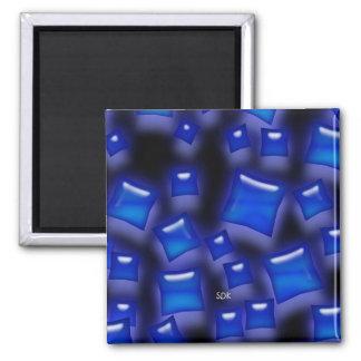El color de la U-selección/el zafiro cristalino Imán Cuadrado