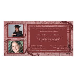 El color de malva enrolla la invitación de la foto tarjetas fotográficas personalizadas