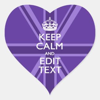 El color de malva púrpura guarda la calma y su pegatina en forma de corazón