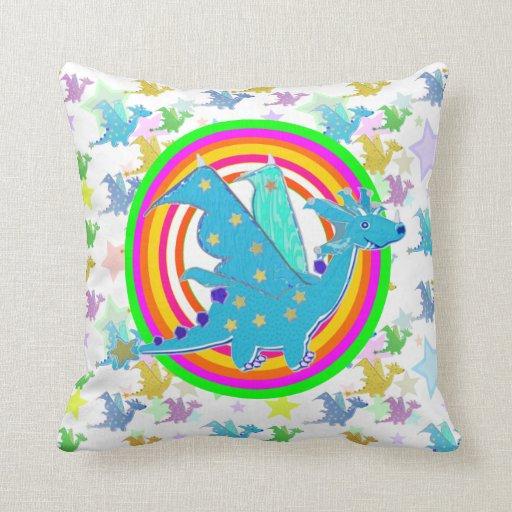 El color de neón del dragón lindo suena el modelo  almohadas