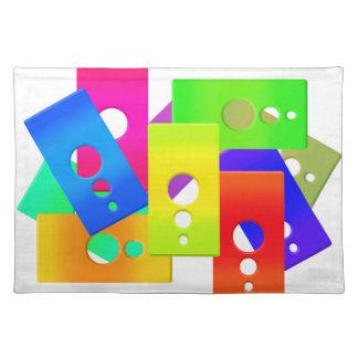 El color de Raimbow forma al americano MoJo Manteles Individuales