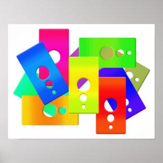 El color de Raimbow forma el poster