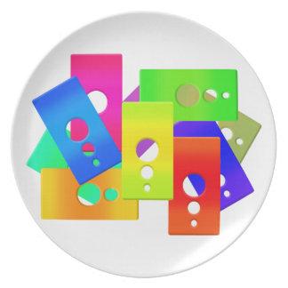 El color de Raimbow forma la placa Platos De Comidas