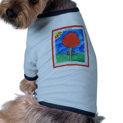 El color de rosa camiseta con mangas para perro
