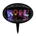 El color de rosa conocido en 3D se enciende (la fo Decoraciones De Tartas