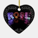 El color de rosa conocido en 3D se enciende (la fo Ornamento De Reyes Magos