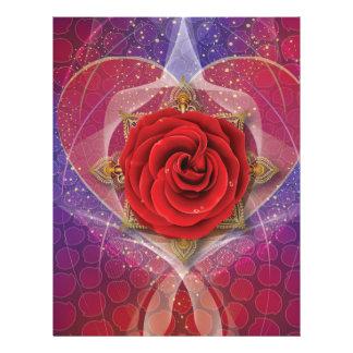 El color de rosa del amor membrete a diseño