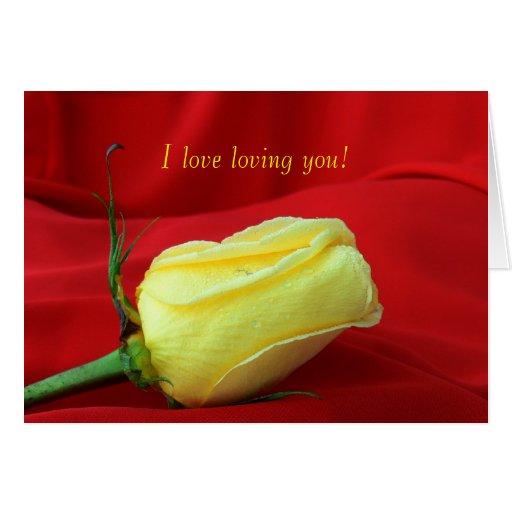 El color de rosa Día-Amarillo de la tarjeta del
